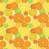 Color citrus pattern