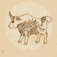 Bull With Elements Of The Orna...