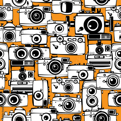 bez-szwu-desen-zabytkowych-aparatow-fotograficznych
