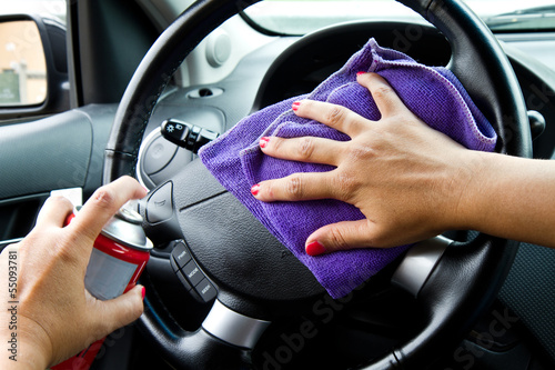 Fotografie, Obraz  pulizia interno auto