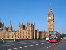 Big Ben And Westminster Bridge,