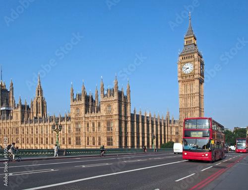 Fotografia  Big Ben i Westminster Bridge,