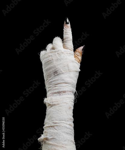Fotografie, Tablou Halloween mummy points the finger