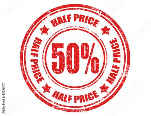 Fotografia Half price-stamp