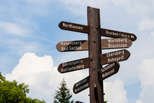 Fingerpost In Harz, Germany