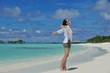 happy woman enjoy summer time
