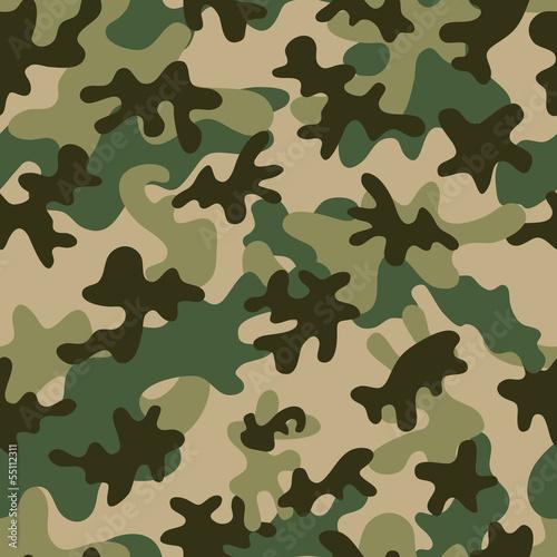 Fotografía  Camouflage Seamless Pattern