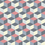 abstract cubic geometric pattern background - 55118789