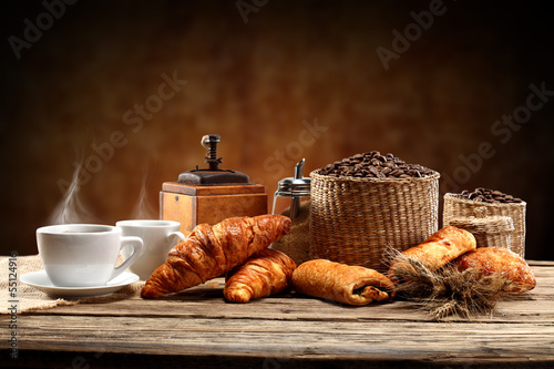 Fototapeta brown background and warm coffee obraz