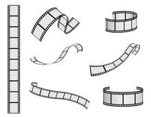 Film Reel Vector Set