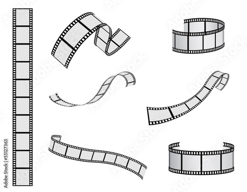 Poster  film reel vector set