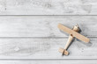 canvas print picture - Wooden toy plane
