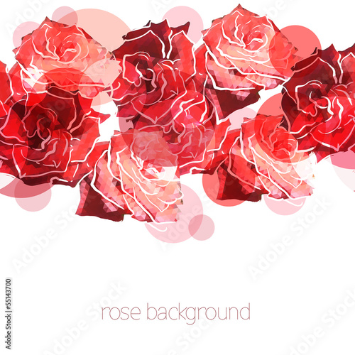 Tuinposter Abstract bloemen Rose background. Floral abstract pattern