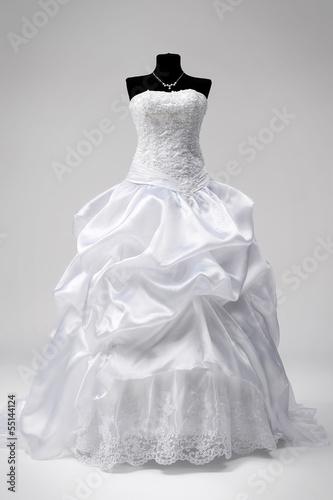 Canvastavla Wedding dress on a mannequin