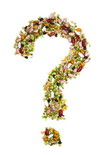 Question Mark Made Of Pulses
