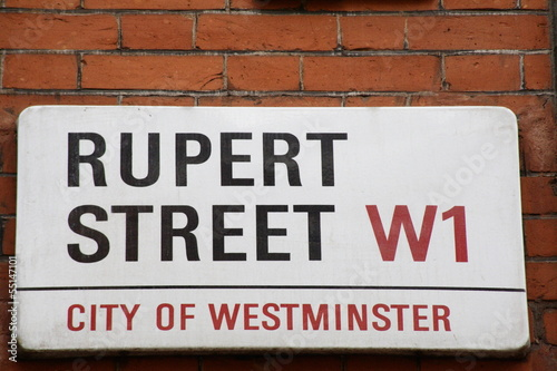 Photo  Rupert Street a Famous Address in London