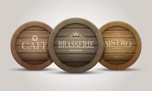 Wooden Barrel Signboards