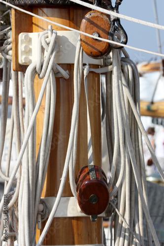 Fotografiet  poulie de voilier