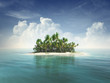 canvas print picture - Tropical island