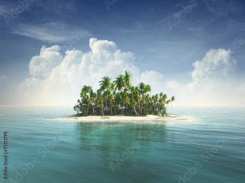 Wall Murals Island Tropical island