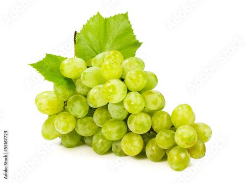 Fotografia, Obraz  bunch of ripe green grapes