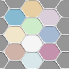 Tapeta Colored honeycomb pattern background