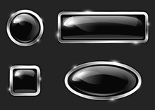 Black Glossy Buttons