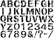 Stencil-font