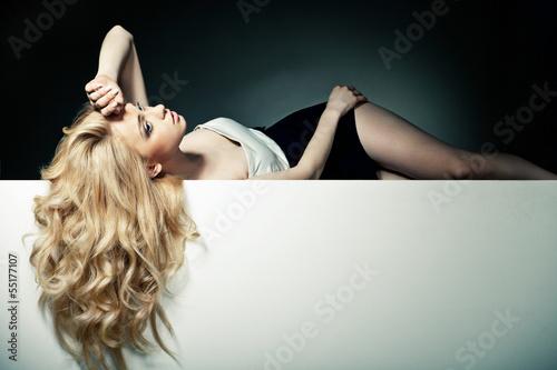 Beautiful Long Hair on an Attractive Woman Plakát