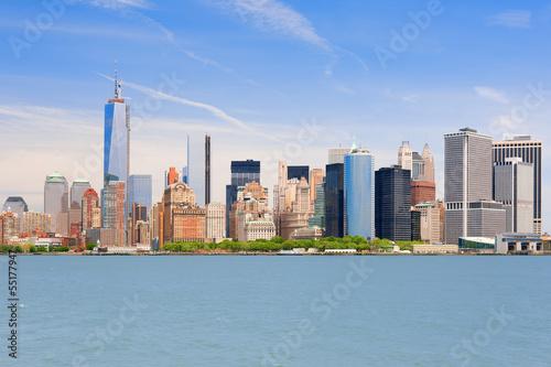 Manhattan in a summer day
