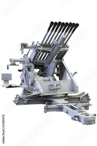 Poster  eight-barrel automatic anti-aircraft gun