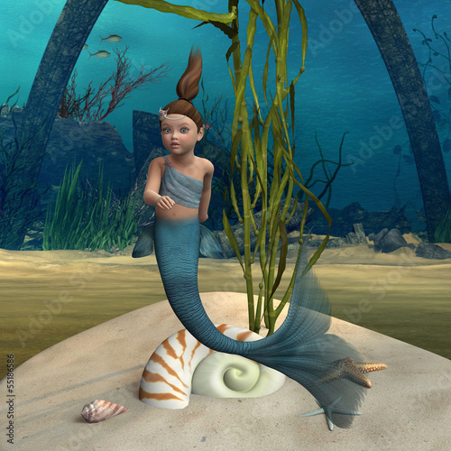 Wall Murals Mermaid Little Mermaid