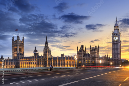 Foto op Canvas Londen Abbaye de westminster Big Ben London