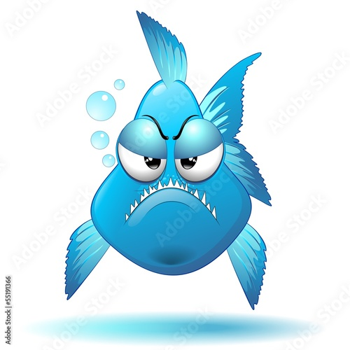 Grumpy Fish Cartoon-Pesce Buffo Imbronciato