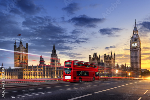 Deurstickers Londen Abbaye de westminster Big Ben London