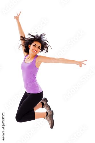 Photo  Joyful Woman Jumping