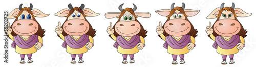 In de dag Indiërs cow 9 - Composite