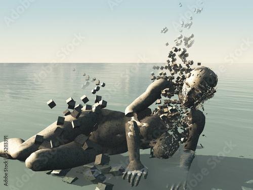 Fotografie, Obraz  human body shatter