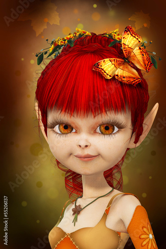 Photo sur Aluminium Fées, elfes Sweet little elf