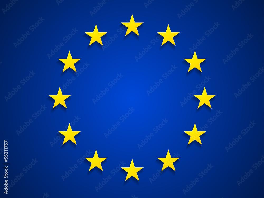 Fototapeta Rurope flag