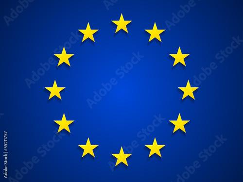 Obraz na plátně  Rurope flag