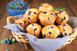canvas print picture - Blueberry muffins
