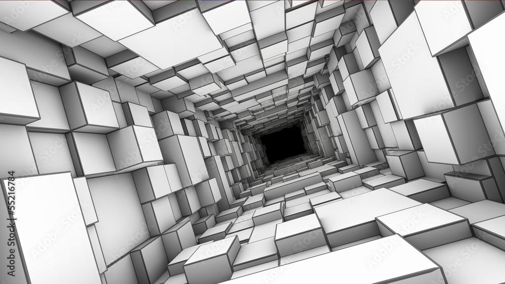 Fototapety, obrazy: Tunel 3D