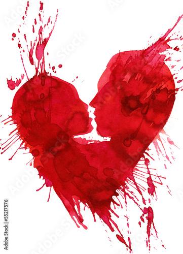ilustracja-przedstawiajaca-calujaca-sie-pare-w-ksztalcie-czerwonego-serca