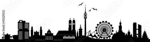 Fototapety, obrazy: Skyline München