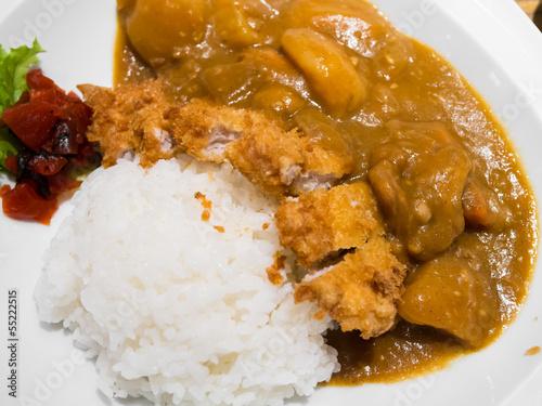 Foto op Aluminium Kip japanese food fry pork curry
