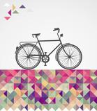 Retro biodrówki rowerowe elementy geometryczne. - 55225596