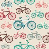 Rocznika roweru elementów bezszwowy wzór. - 55225961