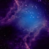 Przestrzeń kosmiczna z purpurowymi mgławicami