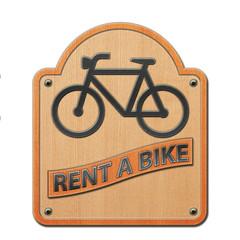 FototapetaRent a Bike  - Schild Holz 2.jpg